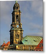 Dresden Kreuzkirche - Church Of The Holy Cross Metal Print by Christine Till