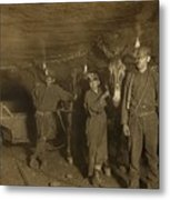 Drivers And Mules With Young Laborers Metal Print by Everett
