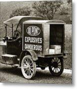 Du Pont Co. Explosives Truck Pennsylvania Coal Fields 1916 Metal Print by Arthur Miller