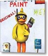 Duck Boy Paint Metal Print by Leah Saulnier The Painting Maniac