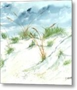 Dunes 3 Seascape Beach Painting Print Metal Print by Derek Mccrea