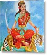 Durga Devi  Metal Print by Kalpana Talpade Ranadive