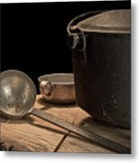 Dutch Oven And Ladle Metal Print by Tom Mc Nemar