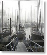 Early Morning On The Docks Metal Print by Laurie With