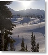 Early Morning Skiing Metal Print by Taylor S. Kennedy