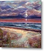 Early September Beach Metal Print by Peter R Davidson