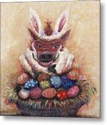 Easter Hog Metal Print by Nadine Rippelmeyer