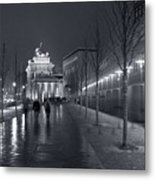 Ebertstrasse And The Brandenburg Gate Metal Print by Pierre Logwin
