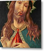 Ecce Homo Or The Redeemer Metal Print by Botticelli