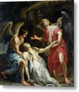 Ecstasy Of Mary Magdalene Metal Print by Peter Paul Rubens