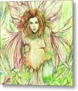 Edana The Fairy Collection Metal Print by Morgan Fitzsimons