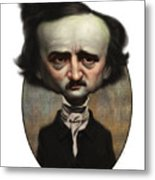 Edgar Allan Poe Metal Print by Court Jones