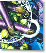 Eggplants Metal Print by Nadi Spencer