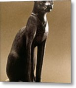 Egyptian Bronze Statuette Metal Print by Granger