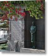 Eleanor's Alcove At The Fdr Memorial In Washington Dc Metal Print by William Kuta