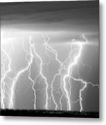 Electric Skies In Black And White Metal Print by James BO  Insogna