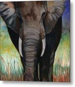 Elephant Metal Print by Anthony Burks Sr