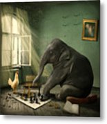Elephant Chess Metal Print by Ethiriel  Photography