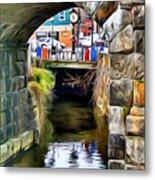 Ellicott City Bridge Arch Metal Print by Stephen Younts