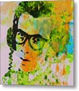 Elvis Costello Metal Print by Naxart Studio