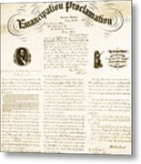 Emancipation Proclamation Metal Print by Photo Researchers