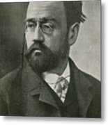 Emile Zola, French Author Metal Print by Photo Researchers
