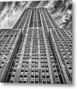 Empire State Building Black And White Metal Print by John Farnan