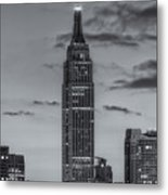 Empire State Building Morning Twilight Iv Metal Print by Clarence Holmes