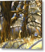 End Of A Winter's Day Metal Print by Bob Salo