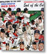 End Of The Curse Red Sox Newspaper Poster Metal Print by Dave Olsen