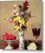 Engagement Bouquet Metal Print by Ignace Henri Jean Fantin-Latour