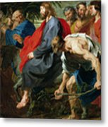 Entry Of Christ Into Jerusalem Metal Print by Sir Anthony van Dyke