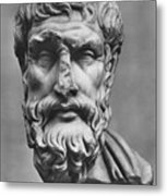 Epicurus (342?-270 B.c.) Metal Print by Granger