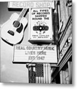 ernest tubbs record shop on broadway downtown Nashville Tennessee USA Metal Print by Joe Fox