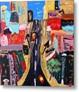 Escape To The City Metal Print by Mary Carol Williams
