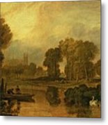 Eton College From The River Metal Print by Joseph Mallord William Turner