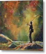Evening Cast Metal Print by Therese Fowler-Bailey