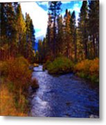 Evening Hatch On The Metolius River Photograph Metal Print by Diane E Berry