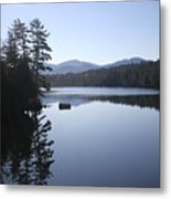Evening On The Lake Metal Print by Kate  Leikin
