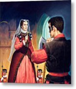 Execution Of Mary Queen Of Scots Metal Print by English School