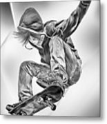 Extreme Skateboard Jump Metal Print by Julie L Hoddinott