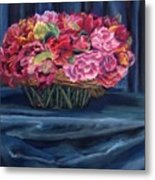 Fabric And Flowers Metal Print by Sharon E Allen