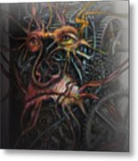 Face Machine Metal Print by Frank Robert Dixon