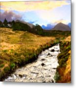 Faerie Lands - Beautiful Morning On The Isle Of Skye Metal Print by Mark E Tisdale