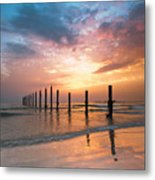 Fahaheel Sunrise Kuwait Metal Print by Shahbaz Hussain's Photos
