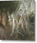Fairies Looking Through A Gothic Arch Metal Print by John Anster Fitzgerald