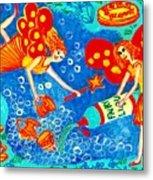 Fairy Liquid Metal Print by Sushila Burgess