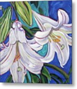 Faith Lily One Metal Print by Dawn Thrasher