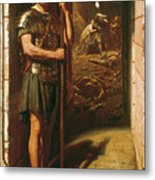 Faithful Unto Death Metal Print by Sir Edward John Poynter