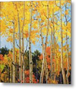 Fall Aspen Santa Fe Metal Print by Gary Kim